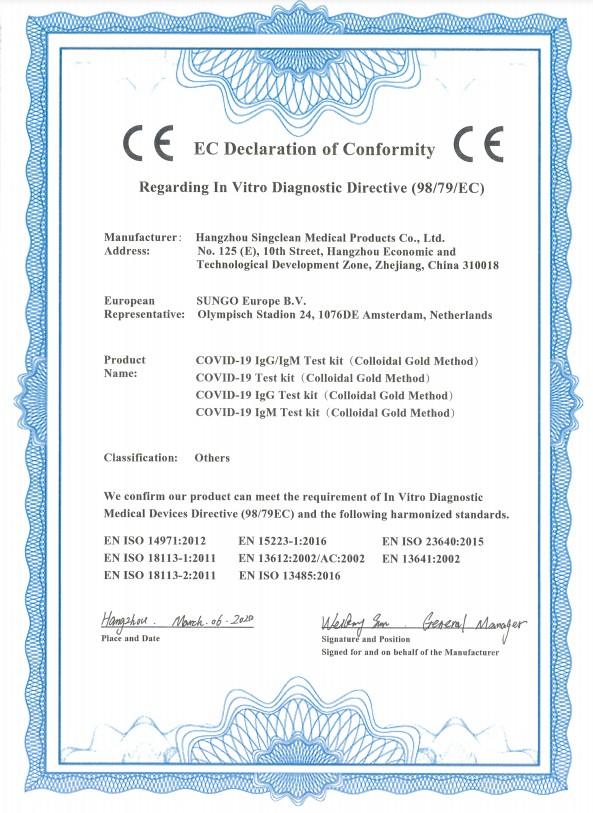 Testovanie na covid 19 v pohodlí domu - certifikáty